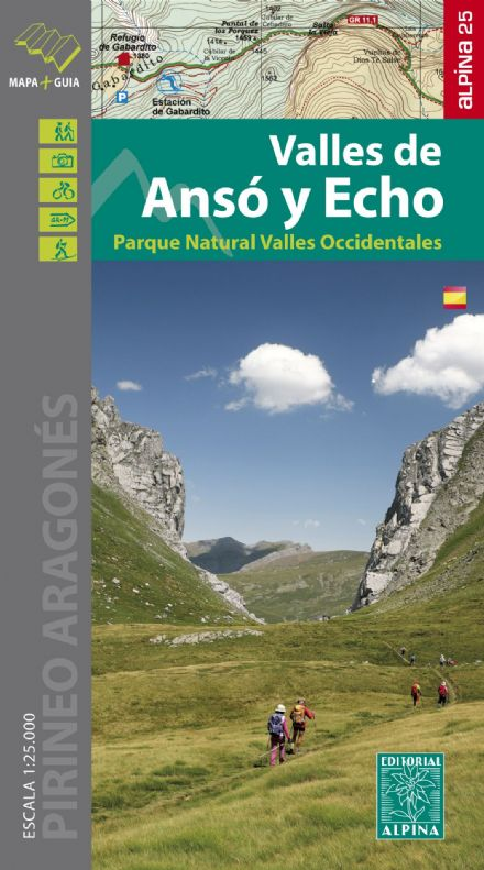 Anso y Echo Valles PN Valles Occident. Map & Hiking Guide Editorial Alpina #015 at 1:25,000